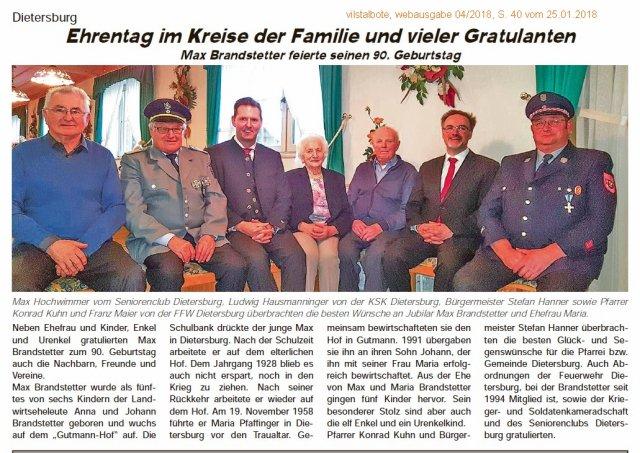 Dietersburg Ehrentag Im Kreise Der Familie Und Vieler Gratulanten