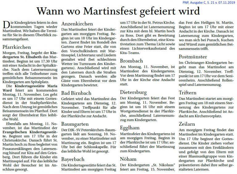 Grossansicht in neuem Fenster: Martinsfest