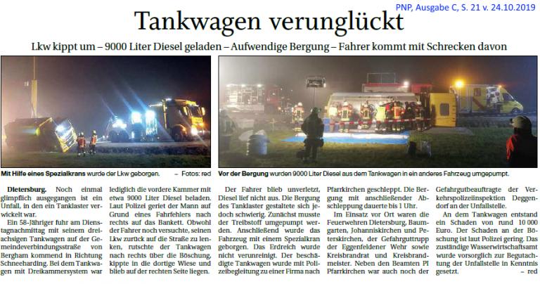 Grossansicht in neuem Fenster: Tankwagen