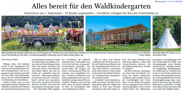 Grossansicht in neuem Fenster: Waldkindergarten