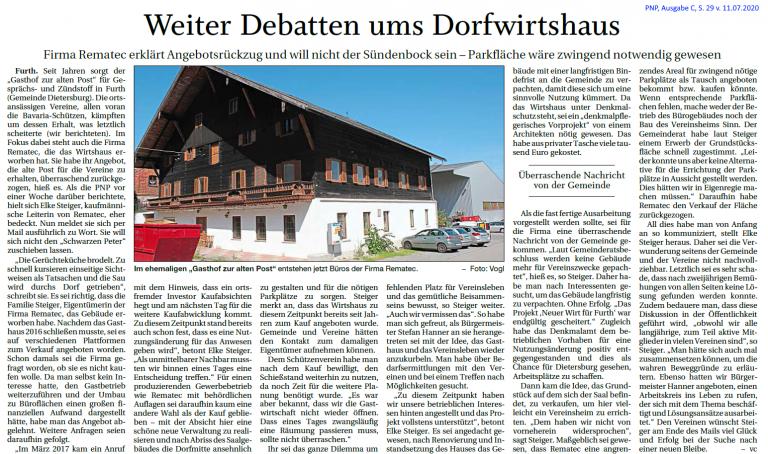 Grossansicht in neuem Fenster: Debatte Dorfwirtshaus