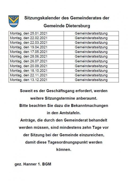 Grossansicht in neuem Fenster: Gemeinderat 2021