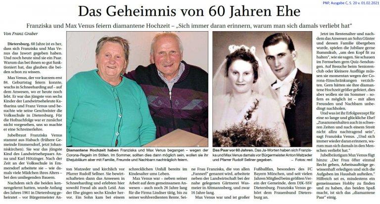 Grossansicht in neuem Fenster: 60 Jahre Ehe Venus