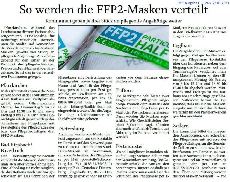 Grossansicht in neuem Fenster: FFP2-Maske