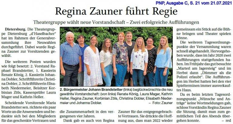 Regina Zauner führt Regie