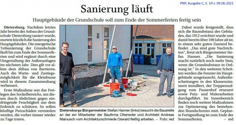 Grossansicht in neuem Fenster: Sanierung Grundschule