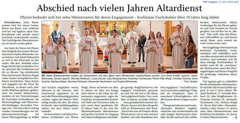 Grossansicht in neuem Fenster: Altardienst
